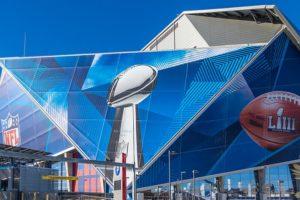 Suberbowl LIII stadium graphics